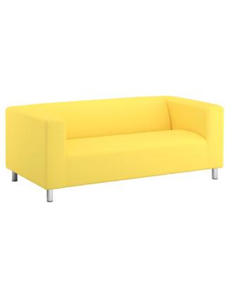 divano in tessuto giallo a noleggio