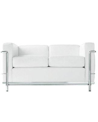 divano in pelle bianca a noleggio