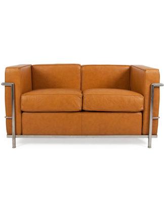 noleggio divano in pelle cognac