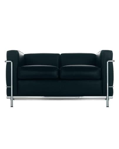 Noleggio divano in ecopelle elegante nero per eventi punto noleggio - Divano ecopelle nero ...