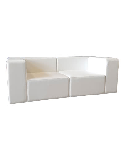 noleggio divano modulare in ecopelle ignifuga