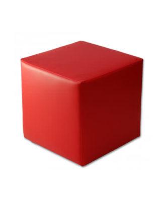 noleggio pouf in ecopelle rosso