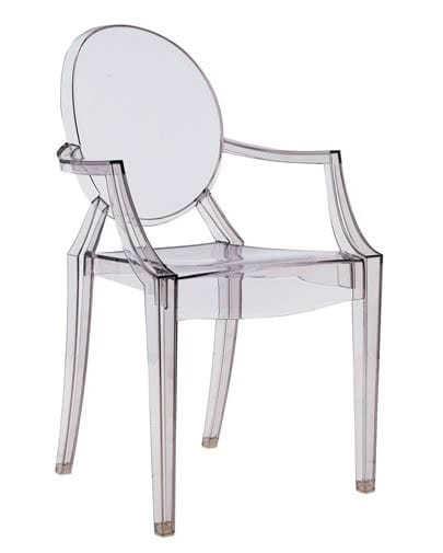 Noleggio sedia Louis Ghost trasparente originale Kartell - Punto ...