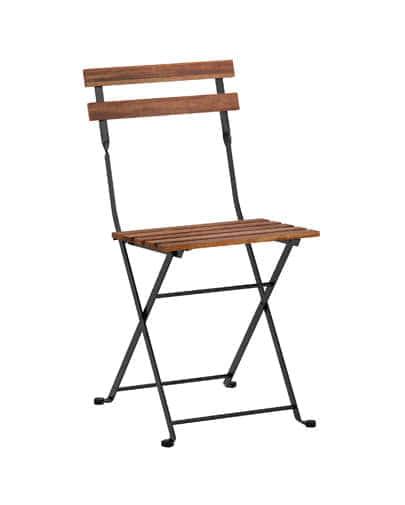 noleggio sedia pieghevole in legno
