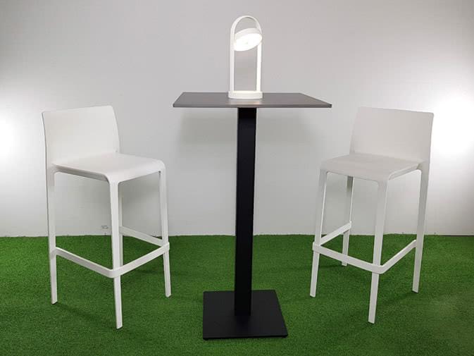 Noleggio tavolo alto quadrato nero per eventi punto noleggio