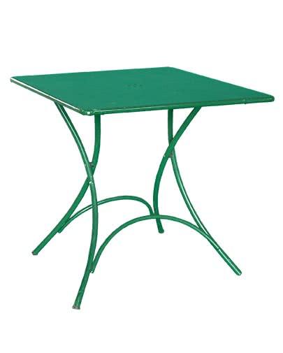 Tavolino Quadrato in Ferro Verde
