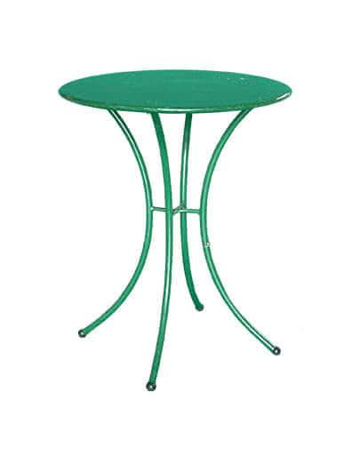 Tavolino Rotondo in Ferro Verde