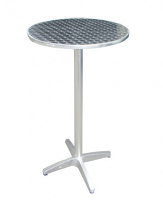 Tavolino Alto Rotondo in Alluminio
