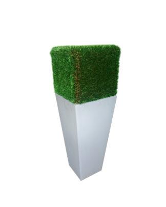 noleggio cubo in eco erba su vaso y-pot light